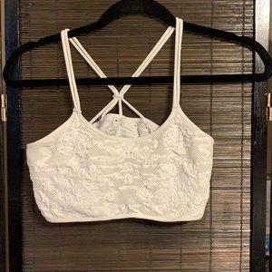White bandeau top